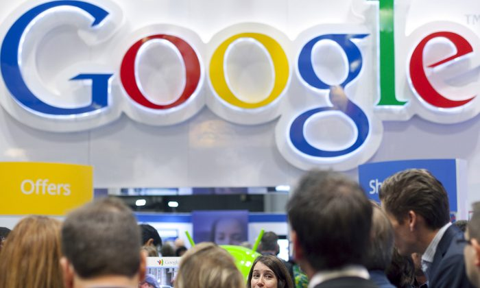 Google's stock surged as the company reported better-than-expected revenue. (AP Photo/Mark Lennihan, File)