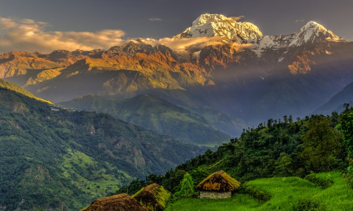 Annapurna South in the morning, Himalayas, Nepal via Shutterstock*