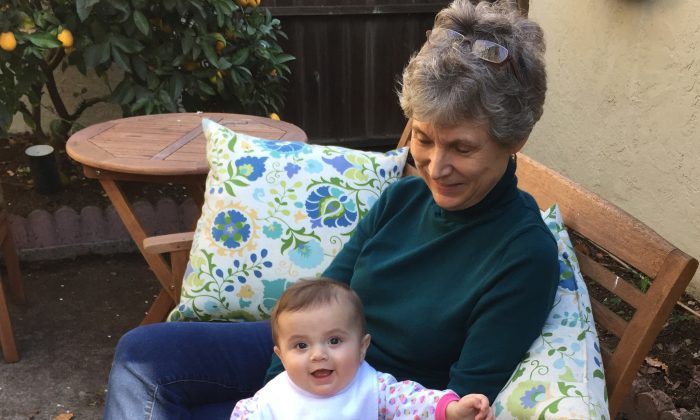In this photo taken Sunday, Jan. 18, 2015, Jane Szalkowski poses with her 6-month old granddaughter, Livia Simon, who is currently under a measles quarantine as a precaution in Oakland, Calif. The baby visited a doctor's office earlier this month where a child with measles was diagnosed. In a rash of cases that public health officials are rushing to contain, at least 70 people in six states and Mexico have fallen ill since mid-December, most of them from Calif. The vast majority of those who got sick had not gotten the measles-mumps-rubella, or MMR, vaccine. (AP Photo/Dave Simon)In this photo taken Sunday, Jan. 18, 2015, Jane Szalkowski poses with her 6-month old granddaughter, Livia Simon, who is currently under a measles quarantine as a precaution in Oakland, Calif. The baby visited a doctor's office earlier this month where a child with measles was diagnosed. In a rash of cases that public health officials are rushing to contain, at least 70 people in six states and Mexico have fallen ill since mid-December, most of them from Calif. The vast majority of those who got sick had not gotten the measles-mumps-rubella, or MMR, vaccine. (AP Photo/Dave Simon)