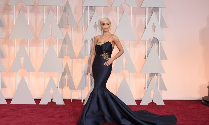 Singer Rita Ora attends the 87th Annual Academy Awards at Hollywood & Highland Center on in Hollywood, California on Feb. 22, 2015. (Photo by Jason Merritt/Getty Images)