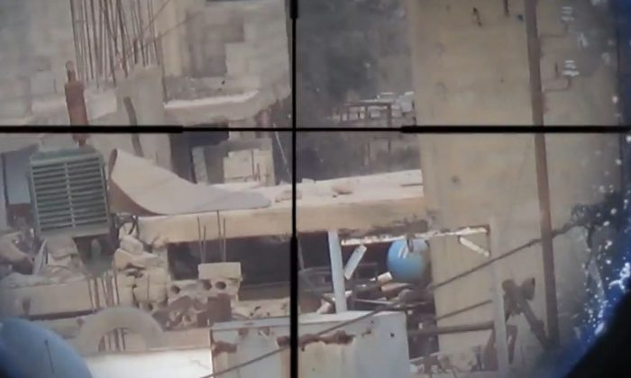 (Screenshot taken from ISIS sniper video)