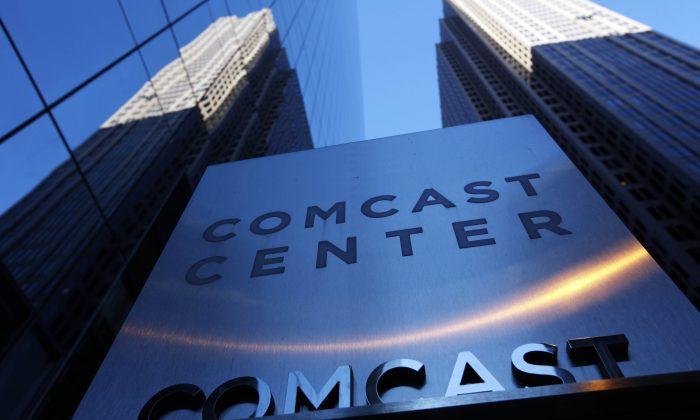 The Comcast Center building in Philadelphia on Jan. 14, 2014. (AP Photo/Matt Rourke)