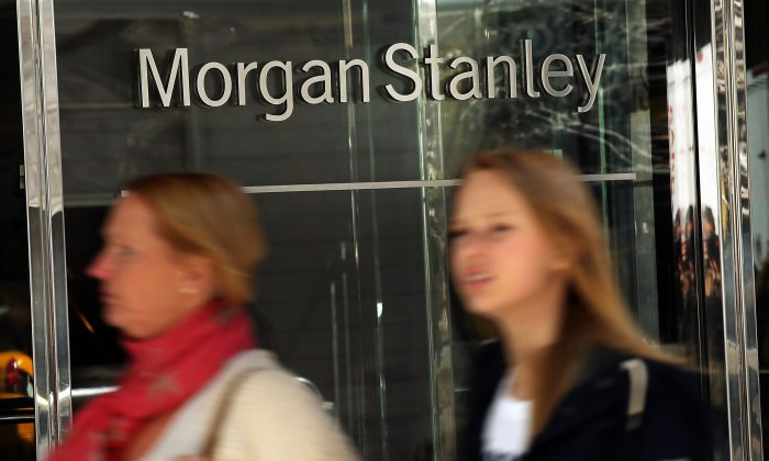Morgan Stanley's New York headquarters are viewed on April 17, 2014 in New York City. (Photo by Spencer Platt/Getty Images)