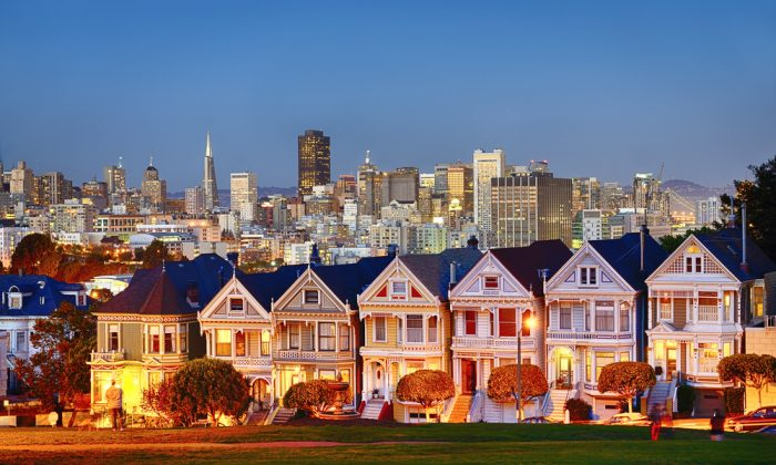 Painted Ladies of San Francisco, California via Shutterstock*