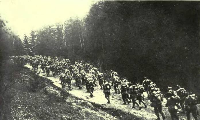 Romanian Troops in Transylvania. Image by Gogu Negulesco.