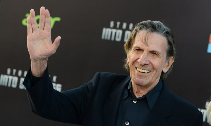 "Leonard Nimoy arrives at the LA premiere of ""Star Trek Into Darkness"" at The Dolby Theater in Los Angeles. (Photo by Jordan Strauss/Invision/AP, File)"