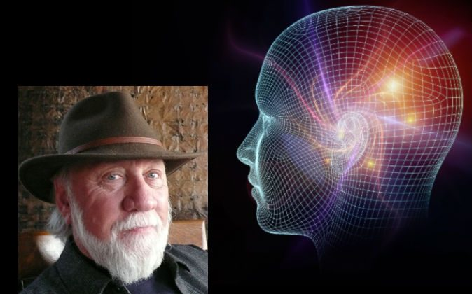Left: Dr. Allan Combs is a professor of Consciousness Studies and director of The Center for Consciousness Studies at the California Institute of Integral Studies. (Courtesy of Dr. Allan Combs) Right: A concept illustration of consciousness. (Shutterstock*)