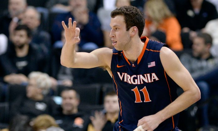 Evan Nolte and the Virginia Cavaliers have already wrapped up a share of the ACC title and likely a number-one seed in the NCAA tournament. (Grant Halverson/Getty Images)