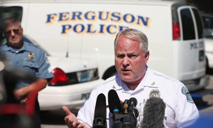 Ferguson Police Chief Thomas Jackson answers questions related to the shooting of Michael Brown in Ferguson, Mo., on Aug. 13, 2014. (Scott Olson/Getty Images)