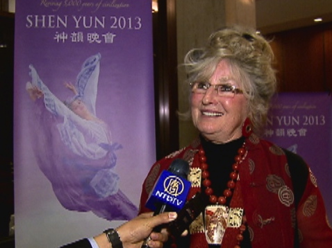 Artist and sculptor Lilita Sale enjoyed Shen Yun Performing Arts at Portland's Keller Auditorium on Wednesday, April 3, 2013. (Courtesy of NTD Television)