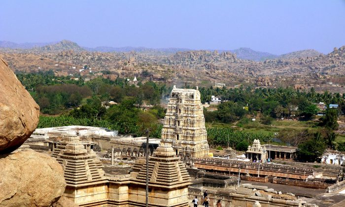 The Hampi temple complex, home to the Virupaksha Temple as well as several other monuments belonging to the old city, is an important religious centre. The ruins are a UNESCO World Heritage Site. (Barbara Angelakis)
