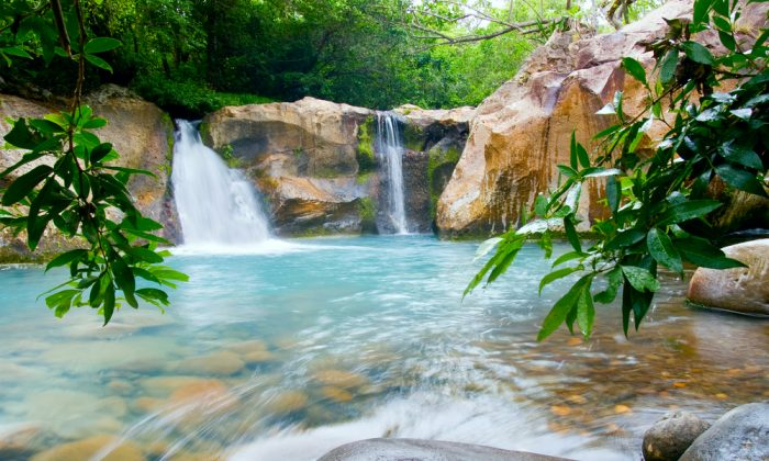 Waterfall at the Rincon de la Vieja National Park, Costa Rica via Shutterstock*