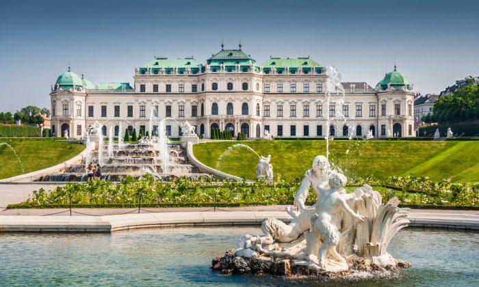 View of famous Schloss Belvedere via Shutterstock*