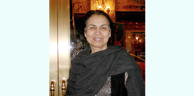 Mrs. Rani Singh attends Shen Yun Performing Arts at the Cadillac Palace Theatre, on March 7, 2015. (Ying Wan/Epoch Times)