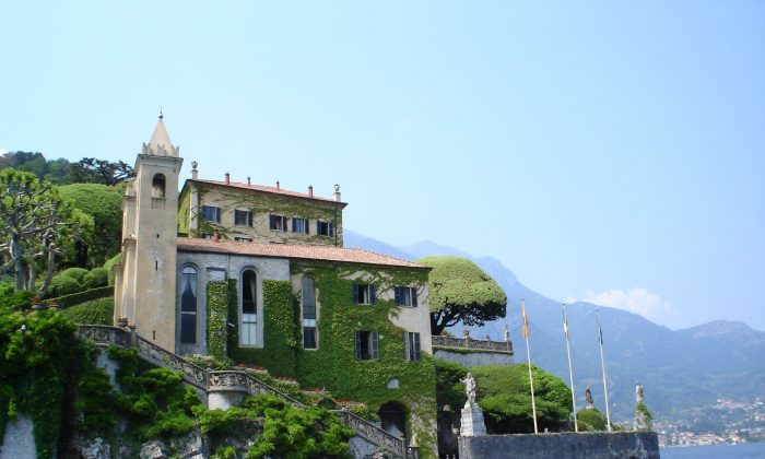"Lake Como is home to many magnificent villas. This one, Villa del Balbianello, was built in 1787 on the site of a Franciscan monastery and is famous for its elaborate terraced gardens. Scenes for several feature films have been shot there, including ""A Month by the Lake"" and ""Casino Royale."" (Scott Thompson/Wikimedia Commons)"