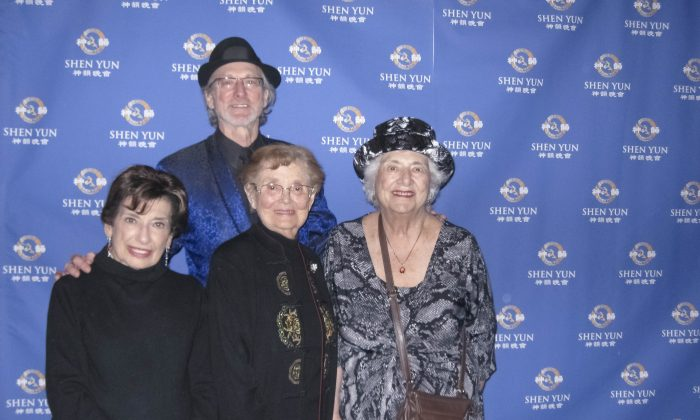 (L to R) Marian Bittner, Muria White, Dean White, and Sasha Murphy greatly enjoyed Shen Yun Performing Arts spiritual content when they attended the March 8 performance at Chicago's Cadillac Palace Theatre. (Cat Rooney/Epoch Times)
