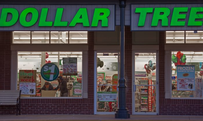 The Dollar Tree store in Chantilly, Va., on Jan. 2, 2015. Dollar Tree is INVESTING heavily to improve logistics and distribution. (Paul J. Richards/AFP/Getty Images)