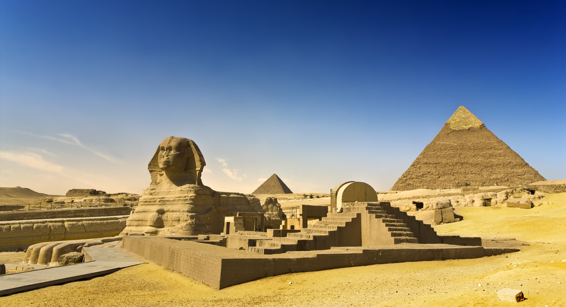The Pyramids and The Great Sphinx