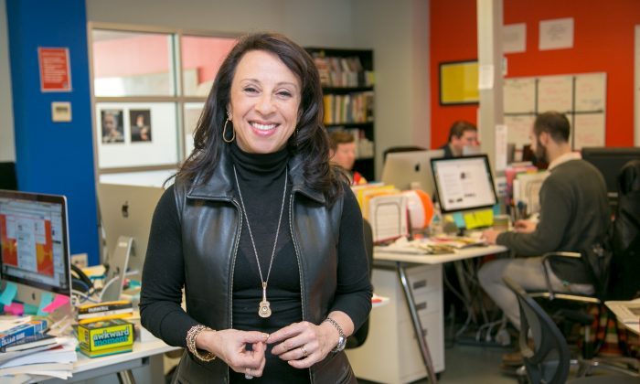 Award winning journalist Maria Hinojosa, at her Futuro Media Group office in Harlem, Manhattan, on Feb. 24, 2015. (Benjamin Chasteen/Epoch Times)