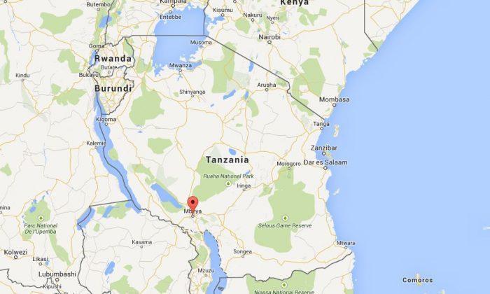A bus crash in Tanzania has left more than 40 people dead in the country's southwest, according to preliminary reports. (Google Maps)
