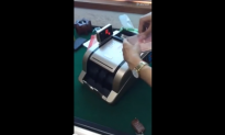 Cash Counting Machine in China Is Designed to Steal Money