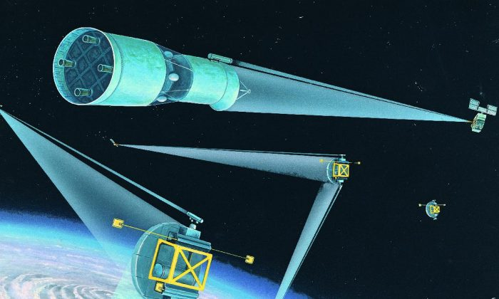 A Cold War artist's rendering of a proposed Soviet anti-ballistic missile satellite. In recent years, space-based assets have factored greatly into the Chinese military's overall strategic planning.  (Ronald C. Wittmann/Defense Intelligence Agency)