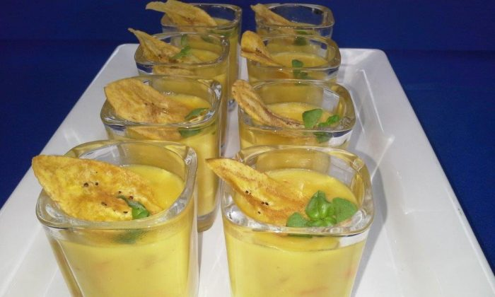 Conch Curry Coconut Banana Chowder Shooters  (Courtesy of Aruba Tourist Authority)