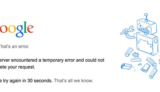 Google Drive Down Friday: Google Docs, Sheets and Slides Included in 502 Error Outage