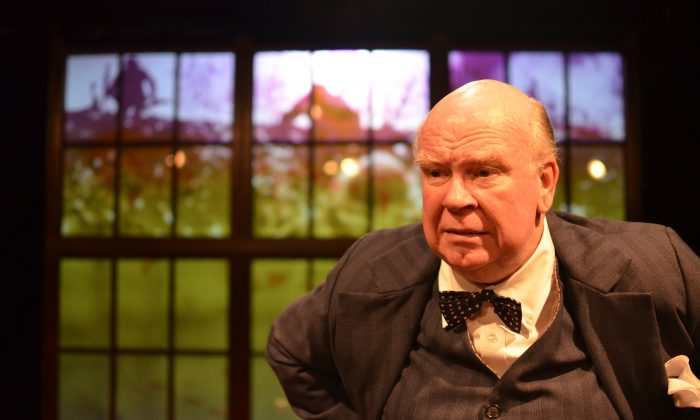 This production highlights that Churchill's (Ronald Keaton) greatest asset was his ability to keep bouncing back, no matter the circumstances. (Jason Epperson)