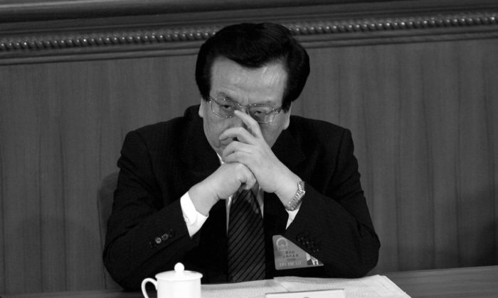 Zeng Qinghong attends a session of the National People's Congress in Beijing on March 9, 2005. (Cancan Chu/Getty Images)