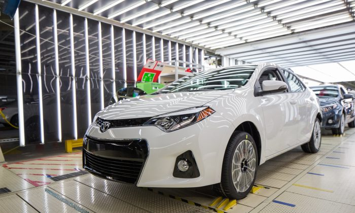 The 500,000 Corolla produced at Blue Spring, Mississippi (Courtesy of Toyota)