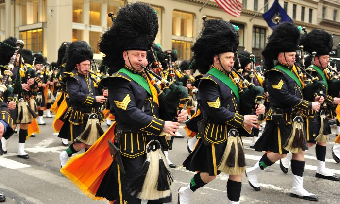 St. Patrick's Day parade in New York, March 17, 2014. (Dai Bing/Epoch Times)
