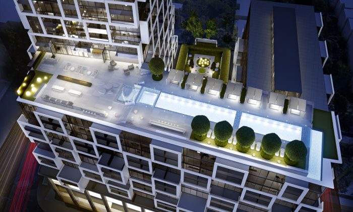 Another view of the terrace. (Freed Developments)