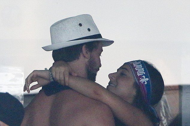 Patrick Schwarzenegger partying it up with mystery girl