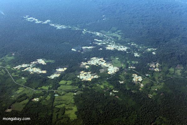 Deforestation along the Transoceanic highway in Peru. Photo by Rhett A. Butler.