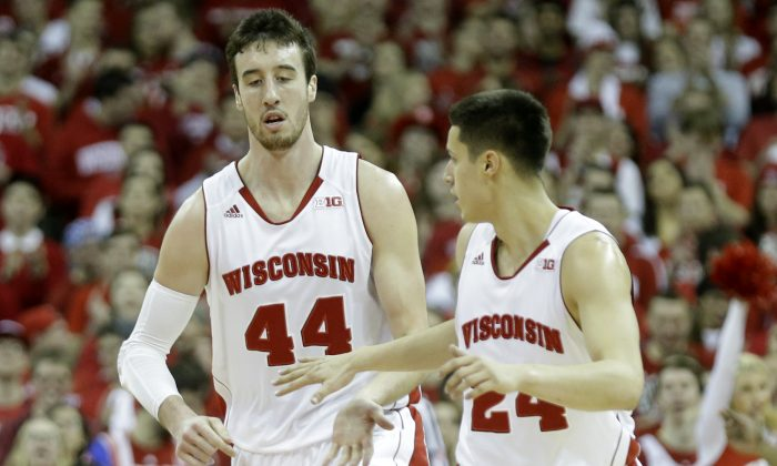 Frank Kaminsky and the Wisconsin Badgers would present a tough matchup for the tournament favorite Kentucky Wildcats. (Mike McGinnis/Getty Images)