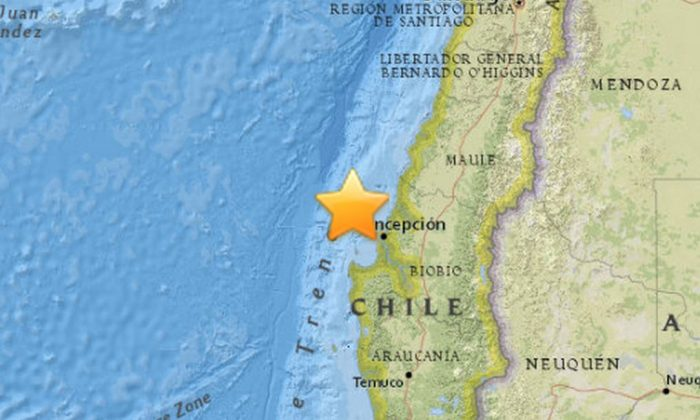 A preliminary 6.2-magnitude earthquake hit off the coast of Chile on Wednesday. (USGS)