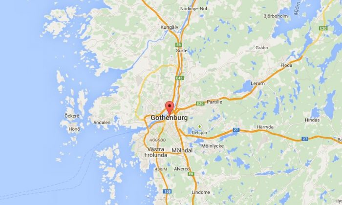 At least eight people were injured in Gothenburg, Sweden, in a shooting on Wednesday, according to early reports. (Google Maps)