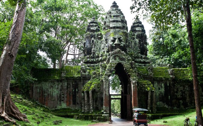 An ancient Cambodian temple via Shutterstock*