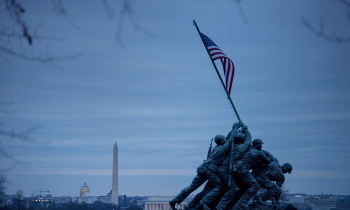 The U.S. Marine Corps War Memorial in Arlington, Va., on Dec. 29, 2014. (Brendan Smialowski/AFP/Getty Images)