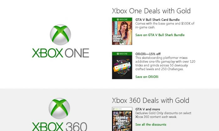 Xbox Games with Gold doesn't have any new games this week, but the Deals with Gold just got a new update. (Screenshot)