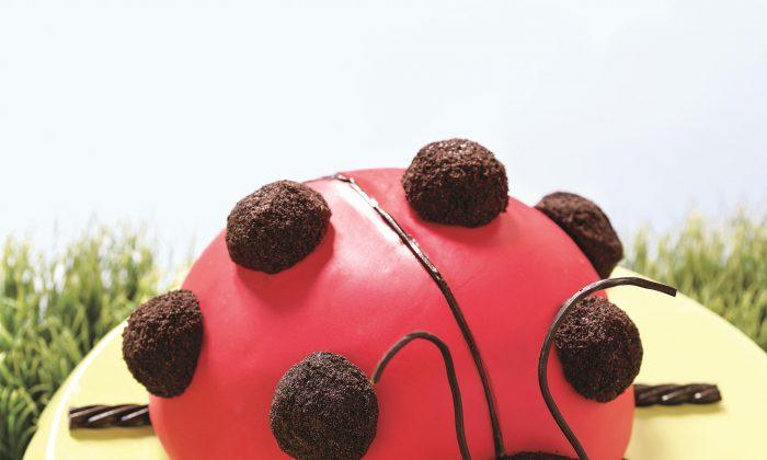 Ladybug Cake. (Courtesy of Houghton Mifflin Harcourt)