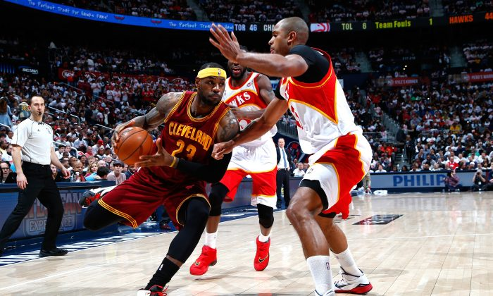 Will the Hawks and Cavaliers meet in the Eastern Conference finals, or will one or both be taken down before then? (Photo by Kevin C. Cox/Getty Images)