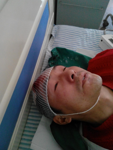 13 Villagers were seriously injured during the conflict. (Photo provided by villagers of Fenglin Town, Hubei Province)