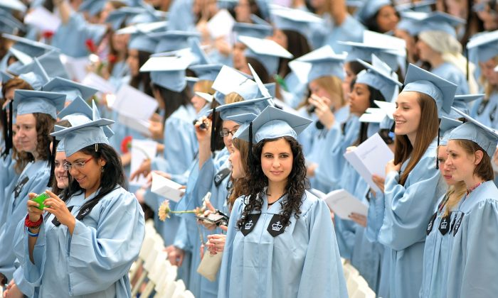 Commencement at the Barnard College, famous women's college in New York, on May 17, 2010. (Slaven Vlasic/Getty Images)