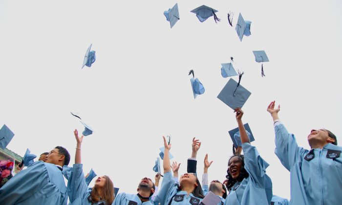 Columbia University School of International and Public Affairs students graduating on May 22, 2014. (Allen Xie/NTD Television)