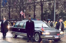 Secret Service agents providing motorcade protection. (Courtesy U.S. Secret Service)
