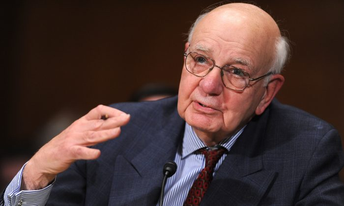 Paul Volcker on Capitol Hill, on Feb. 2, 2010.  (Tim Sloan/AFP/Getty Images)