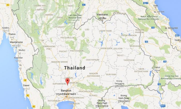 Two trains reportedly crashed in central Thailand's Ayutthaya region on Thursday. (Google Maps)