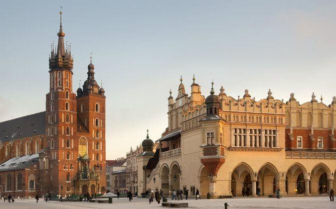 Church of St. Mary and the Cloth Hall in Krakow via Shutterstock*